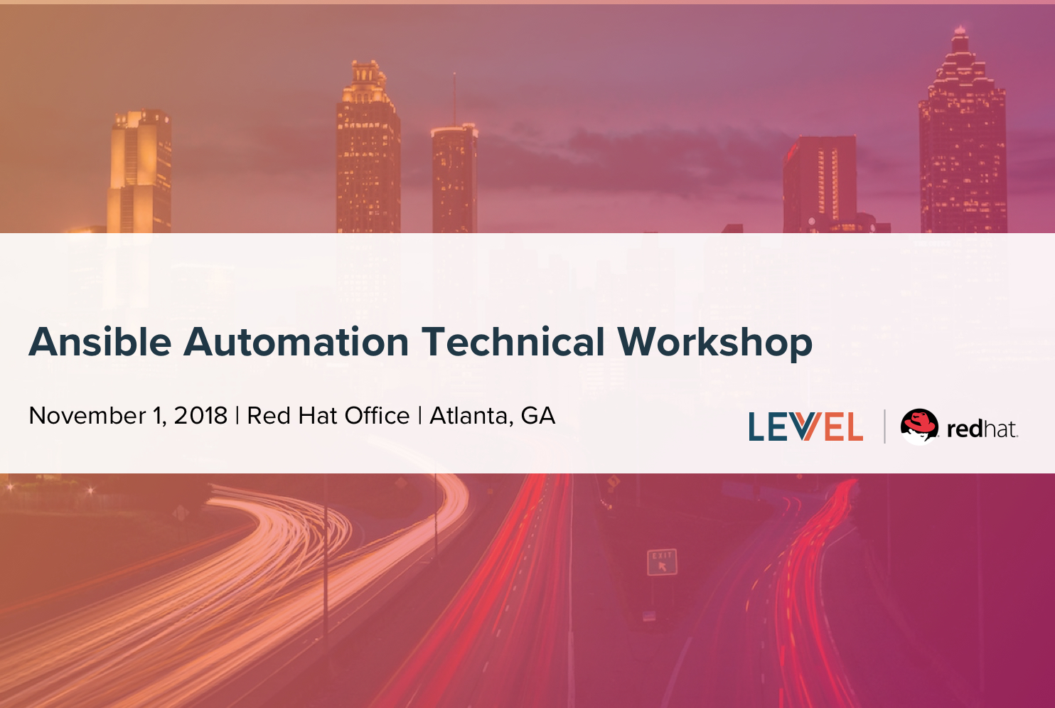 Ansible Automation Technical Workshop - Events | Levvel