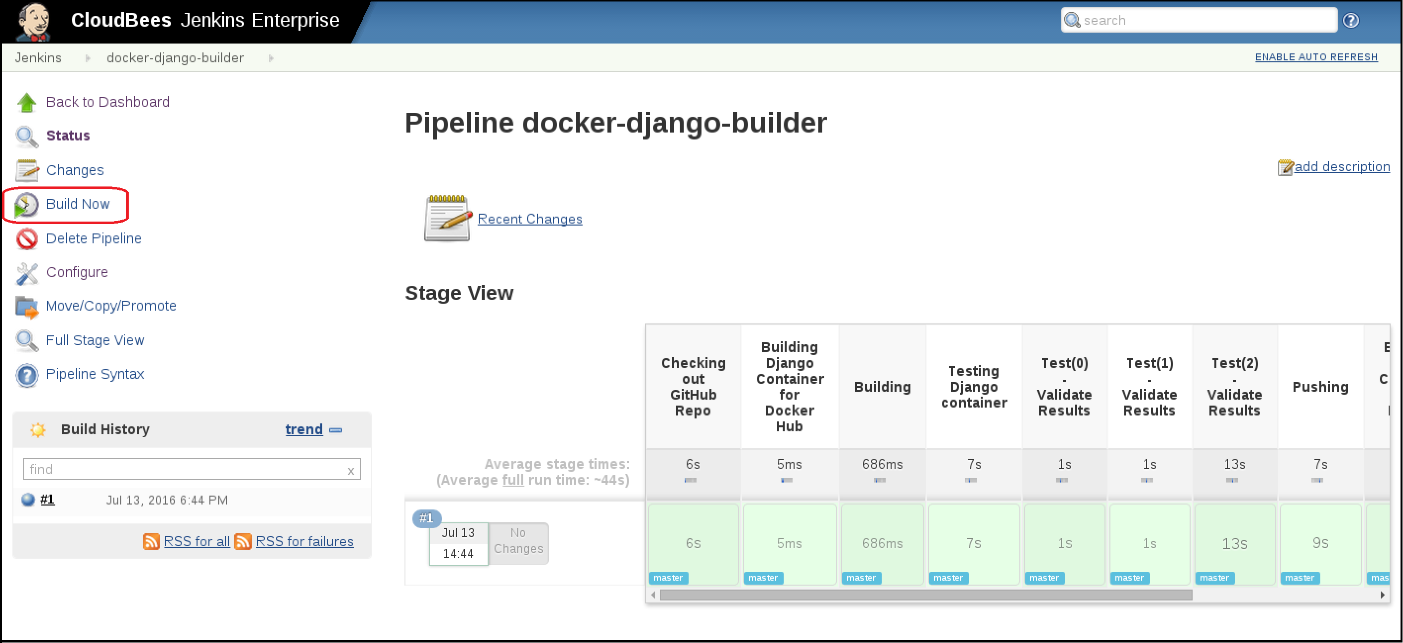 Docker Pipeline Build Results