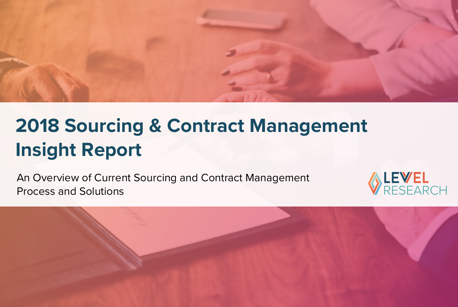 2018 Sourcing & Contract Management Insight Report