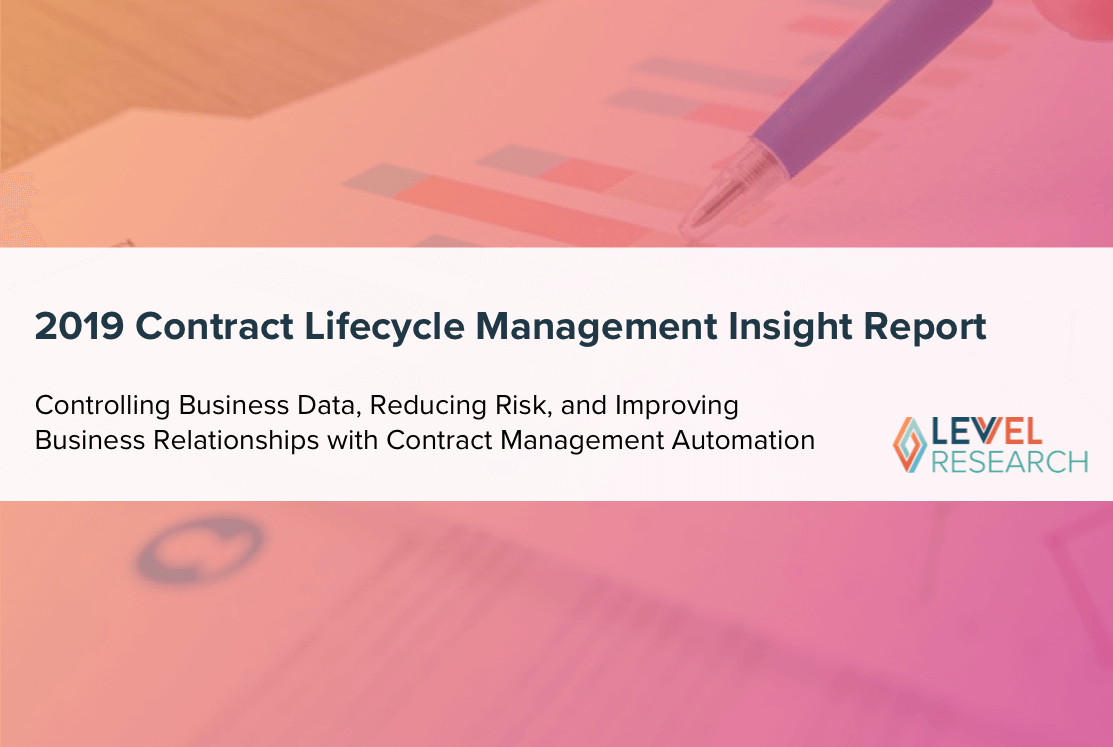 2019 Contract Lifecycle Management Insight Report