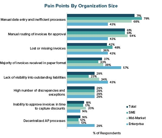 Pain Points by Organization Size