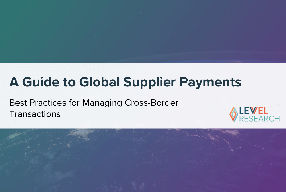 A Guide to Global Supplier Payments