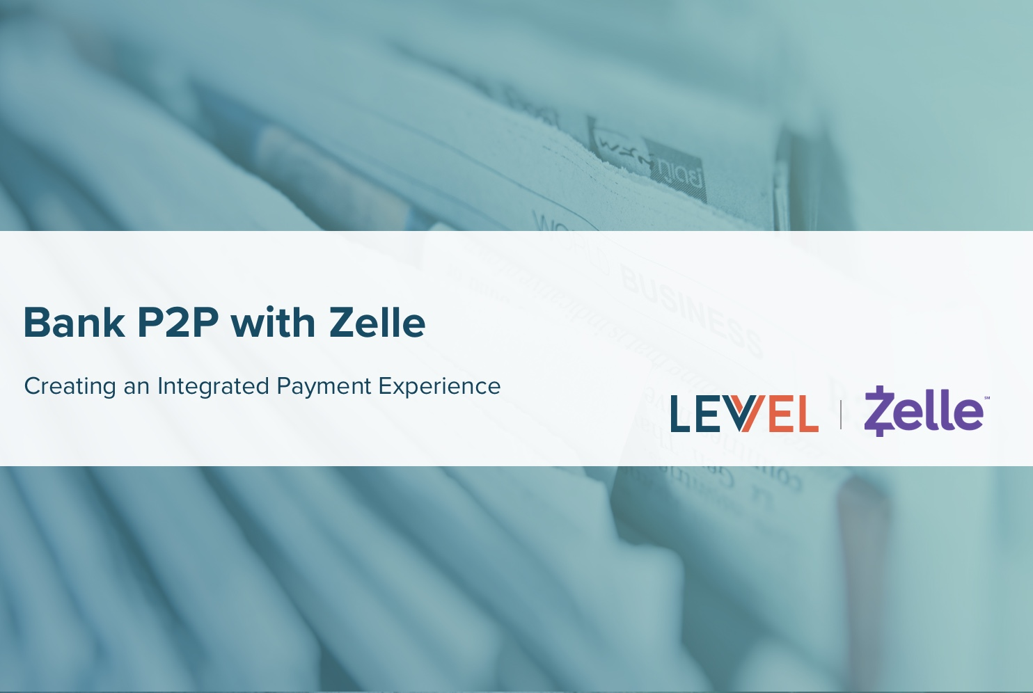 Bank P2P with Zelle