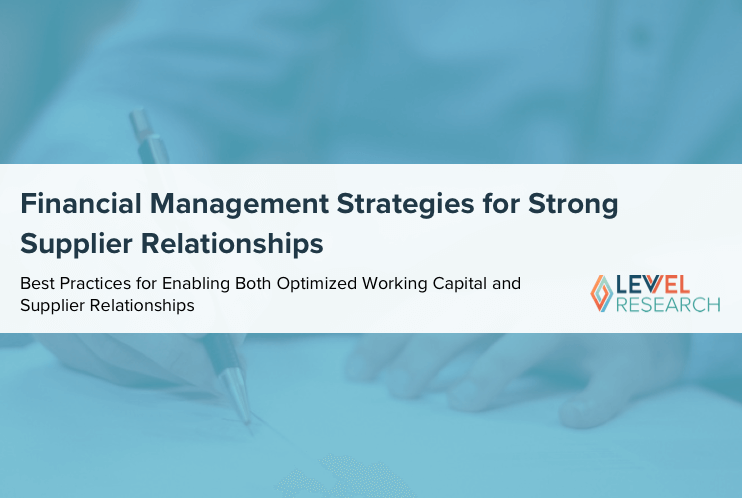 Financial Management Strategies for Strong Supplier Relationships