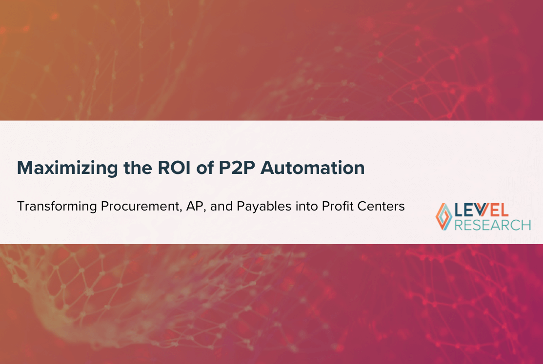 Maximizing the ROI of P2P Automation