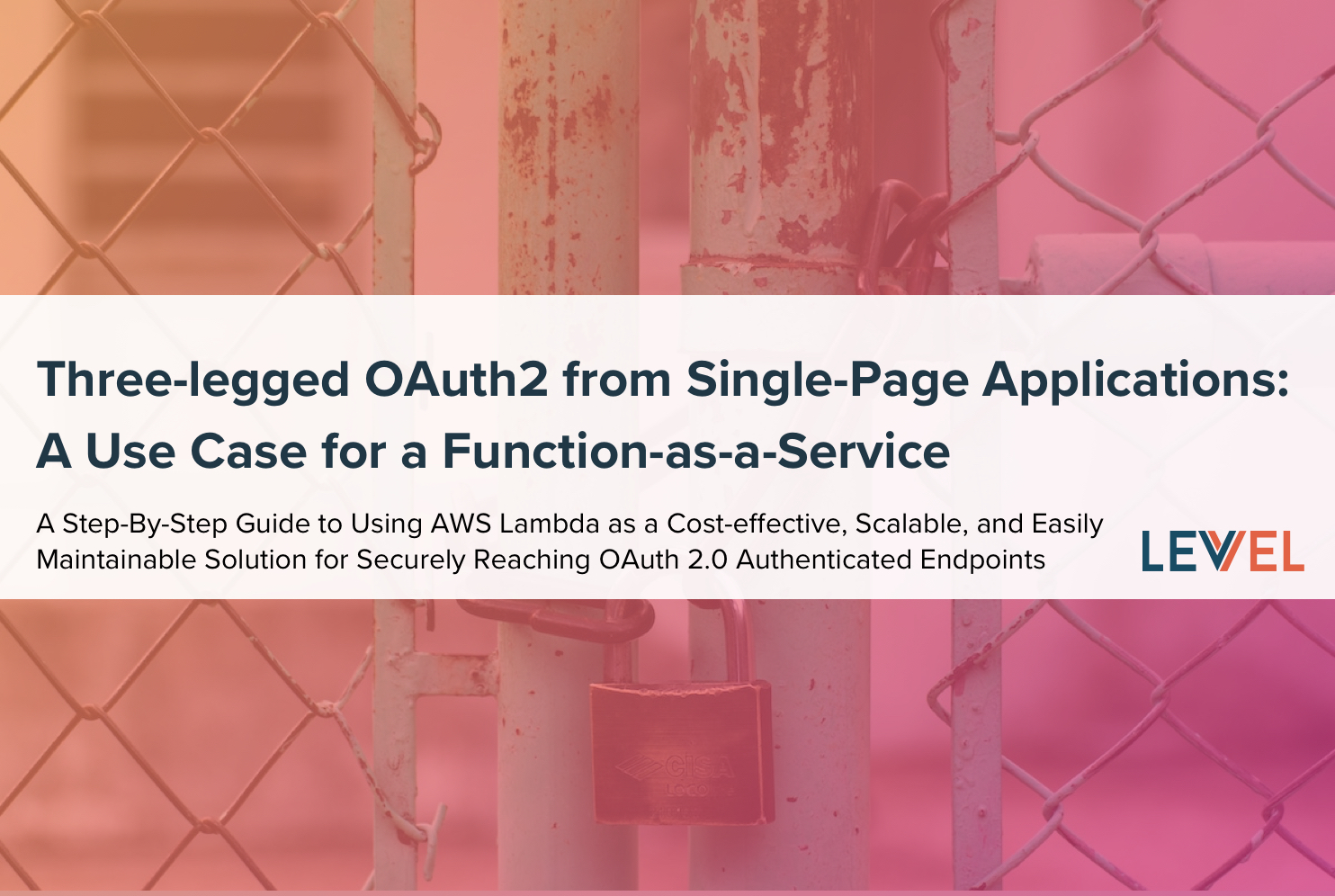 Three-legged OAuth2 from Single-Page Applications: A Use Case for a Function-as-a-Service