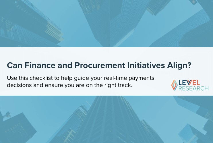 Can Finance and Procurement Initiatives Align?